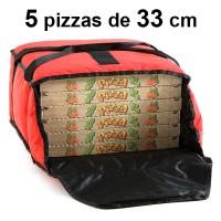 Sac à de livraison - 5 Pizzas de 33cm - Souple