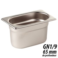 Bac Gastronorme inox taille standard 100mm Vogue K923
