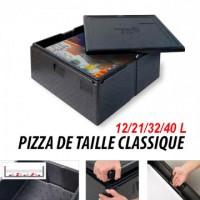 Box à pizza - Taille Pizza classique - 21L