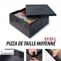 Box à pizza - Pour pizza de taille moyenne - 21/35L