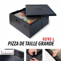 Box à pizza - Pour pizza de taille grande - 62L ThermoFuturBox